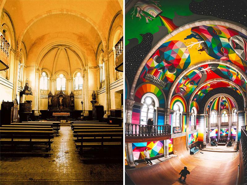 100-річну церкву переобладнали в скейт-парк з яскравими графіті (ФОТО)