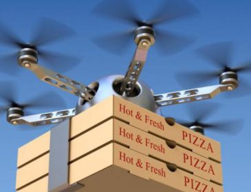 Піцу в Одесі доставляють дрони