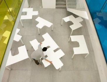 Забудьте про нудний офіс: китайці придумали незвичайні офісні столи